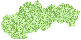 Map of Slovakia Stock Images