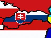 Map of Slovakia. Royalty Free Stock Photo