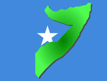 Map of Somalia Stock Images
