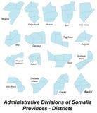 Map of Somalia Stock Images