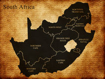 Map of South Africa royalty free stock images