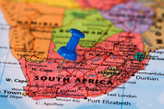 Map of South africa Stock Photos