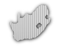 Map of South Africa on corrugated iron Royalty Free Stock Photography