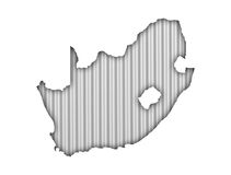 Map of South Africa on corrugated iron Royalty Free Stock Images