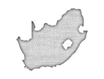 Map of South Africa on old linen Royalty Free Stock Image