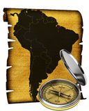 Map of South America Royalty Free Stock Photography