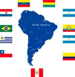 Map of south america Royalty Free Stock Image