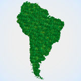 Map South America from grass Royalty Free Stock Photography