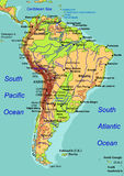 Map of South America. Vector illustration Royalty Free Stock Image