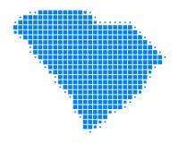 Map of South Carolina. On white Royalty Free Stock Image