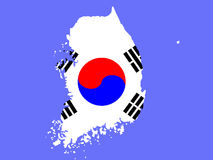 Map of South Korea Royalty Free Stock Image