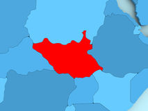 Map of South Sudan Stock Images