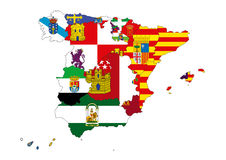 Map of Spain. Image of map of Spain designed by computer using design software, with white background Royalty Free Stock Photography