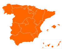 Map of Spain Stock Photos