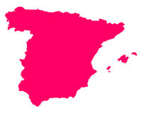 Map of Spain Stock Images