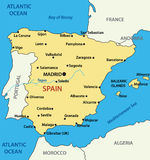 Map of Spain - illustration - vector Stock Image