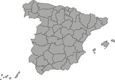 Map of spain Stock Photo
