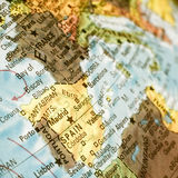 Map of Spain and Portugal. Close-up image Royalty Free Stock Photo