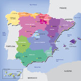 Map of Spain Stock Photography