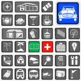 Map squared icons - legend Royalty Free Stock Photos