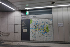 Map subway in Tokyo, Japan Stock Image