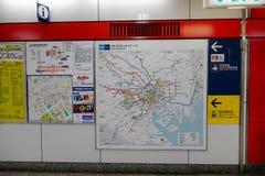 Map subway in Tokyo, Japan Stock Image