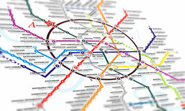 Map subway Royalty Free Stock Photos
