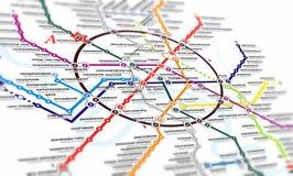 Map subway Royalty Free Stock Photos