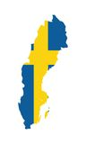 Map of Sweden Stock Images
