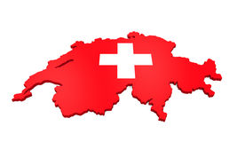Map of Swiss Isolated Stock Images