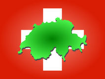 Map of Switzerland Stock Photo