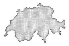 Map of Switzerland Royalty Free Stock Photo