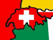 Map of Switzerland. Stock Image