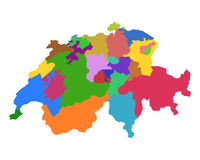 Map of Switzerland Stock Images