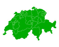Map of Switzerland Stock Image