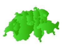 Map of Switzerland Royalty Free Stock Photography