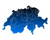 Map of Switzerland Royalty Free Stock Image