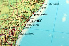 Map of Sydney Stock Images