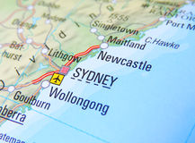 Map of Sydney Royalty Free Stock Images