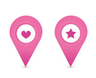 Map symbol. Map pointer,  icon Stock Photography