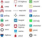 Map symbols Stock Image