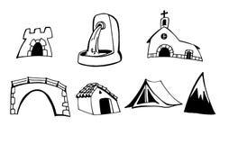 Map symbols Royalty Free Stock Image