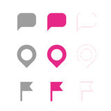 Map symbols. Navigation marker, map pointer,  icon Royalty Free Stock Photography