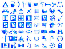 Map Symbols Stock Photo