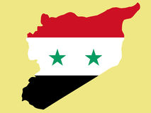 Map of syria Stock Images