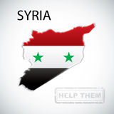 Map of Syria Royalty Free Stock Image