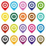 Map szpilki, koloru set Fotografia Stock