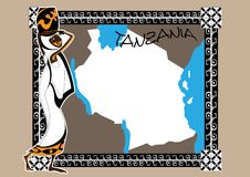 Map of Tanzania Royalty Free Stock Image