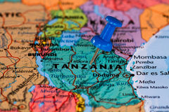 Map of Tanzania Stock Photos
