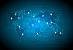 Map technology light design Stock Photography